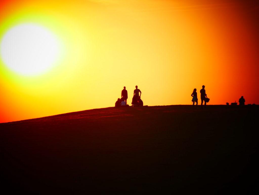 Sonnenaufgang auf der Halde Norddeutschland